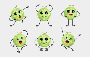Set of Melon Characters vector