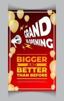 Grand Business Re Opening Poster vector