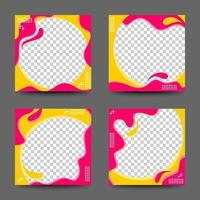 Twibbon Frame Template Collection vector