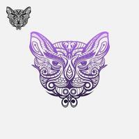 Cat Face logo design vector