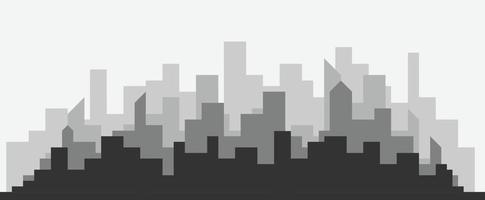 Abstract futuristic city with modern buildings vector wallpaper background.