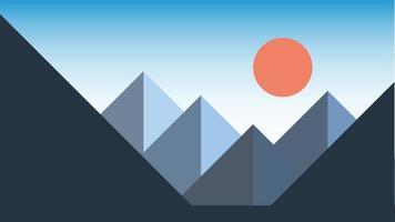 Simplicity mountain landscape modern style wallpaper background. vector