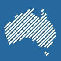 Simplicity modern abstract geometry Australia map. Vector illustration.