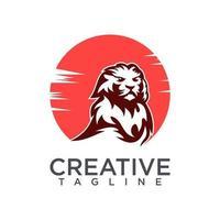 Lion logo design vector