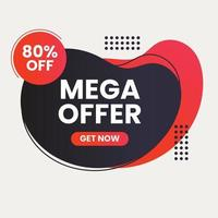 sale label with discount vector