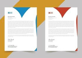 Modern letterhead template abstract design for your business vector
