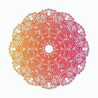Mandala Decorative And Ornamental Hand drawing Abstract Colorful design vector