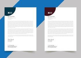 Modern letterhead template design for your business vector