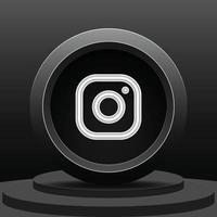 social media 3d instagram icon vector