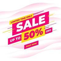 Sale banner template design, Big sale special offer promotion discount banner. vector