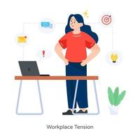 Work Place Tension vector