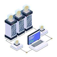 Data Centers and Server Room vector