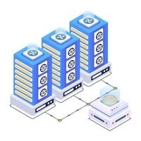 Data Centers and Server vector