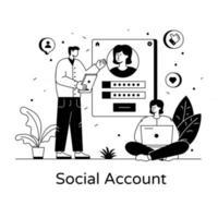 Online Social Account vector