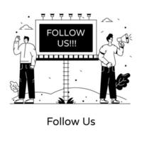 Follow Us campaign vector