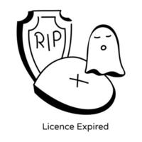 Permit License Expired vector