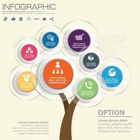 Abstract tree infographics elements. Design Template. Vector illustration.