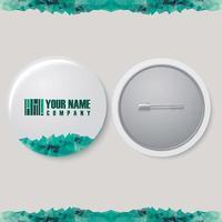 Pin corporate identity vector