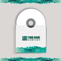 CD cover art corporate identity vector
