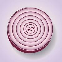icono de rueda de cebolla vector
