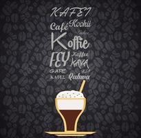 Restaurant Coffee Background vector