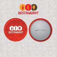 Restaurant pin corporate identity vector