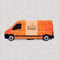 Car restaurant delivery vector
