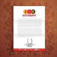 Restaurant Folder Corporate identity vector