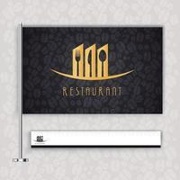 Concept logo restaurant vector