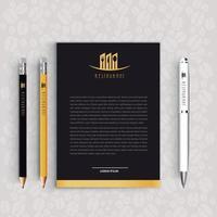 Letter draft  corporate identity restaurant vector