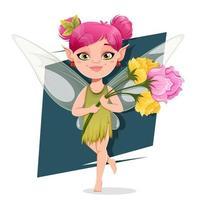 Beautiful fairy cartoon character vector