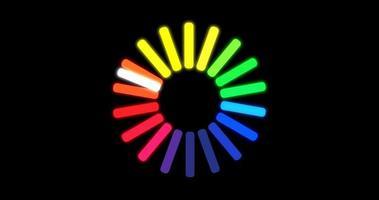 carregando o ícone do círculo de cores em fundo preto video