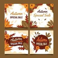 Autumn Special Sale Card Template vector