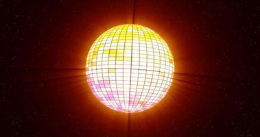 palla da discoteca che gira su un loop senza soluzione di continuità video