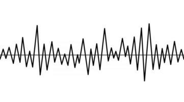 Heart rate,cardiogram icon. Pulse waveform. Heart rythm problems, arrhythmia. Medical illustration. Isolated black and white healthcare vector sign. Hospital reanimation symbol.