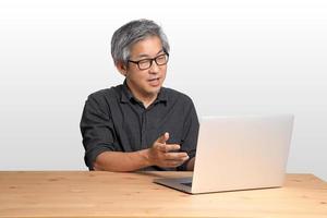 trabajador asiático foto