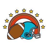 casco deportivo de fútbol americano con globo vector