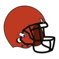 icono de casco de deporte de fútbol americano vector