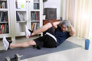 Asian Man Workout photo