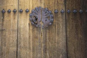 Traditional wooden door photo