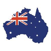 australian country flag in map vector