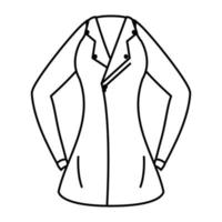 female motorcycle jacket wear isolated icon vector