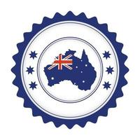 australian country flag in map seal vector