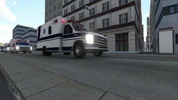 convoi d'ambulances dans une grande ville video
