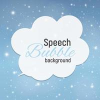 Speech Bubble with Sample Text against Abstract Glossy Star Sky Vector Illustration Background