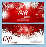 Christmas and New Year Gift Voucher, Discount Coupon Template Ve vector