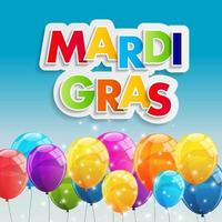 Mardi Gras Party Holiday Poster Background. Vector Illustration