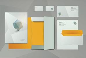 Corporate Business Kit design vector