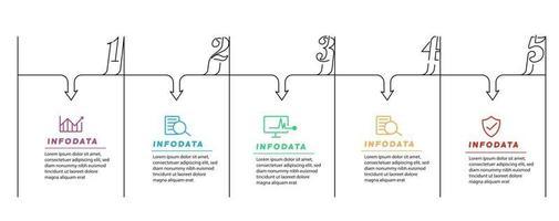 elementos de diseño de infografías empresariales. infochart moderno, gráfico y gráficos de marketing, diagramas de barras. vector
