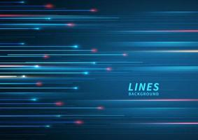 Abstract technology geometric overlapping hi speed line movement design background with copy space for text. vector
